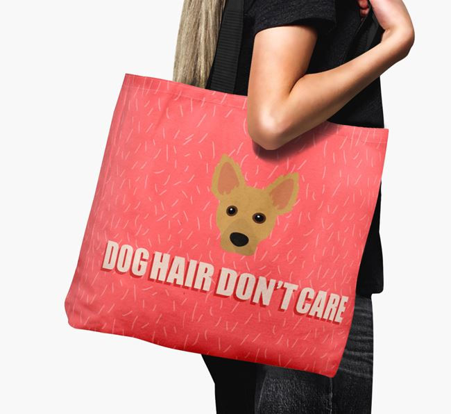 'Dog Hair Don't Care' Canvas Bag with Dameranian Icon