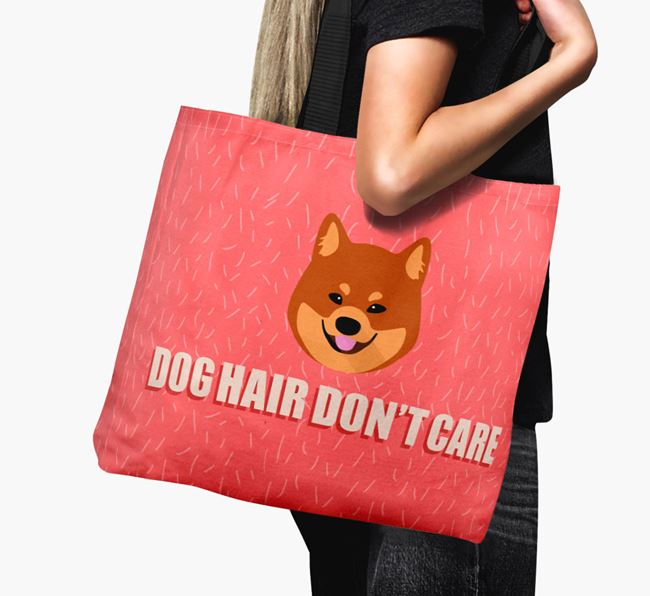 'Dog Hair Don't Care' Canvas Bag with Eurasier Icon
