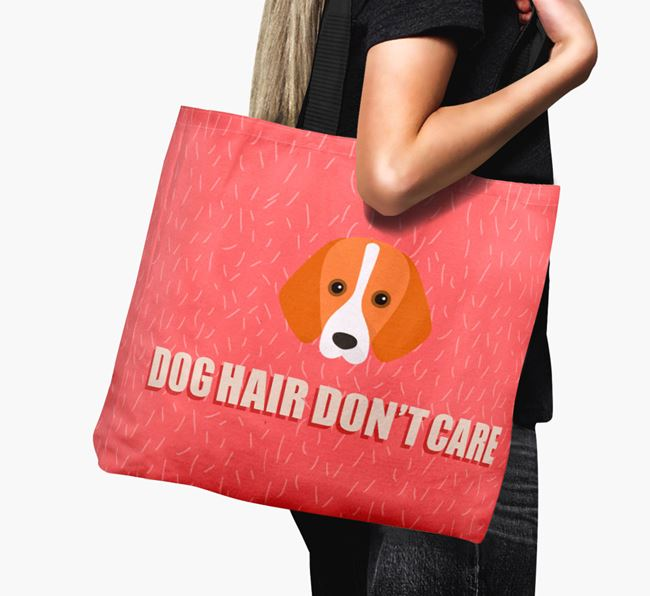 'Dog Hair Don't Care' Canvas Bag with Foxhound Icon