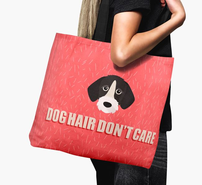 'Dog Hair Don't Care' Canvas Bag with German Wirehaired Pointer Icon