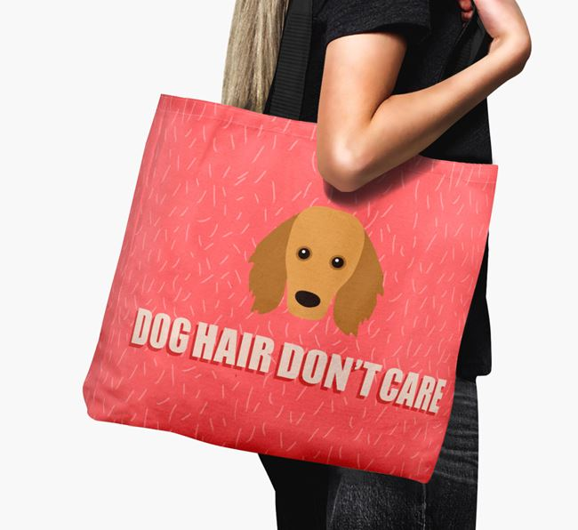 'Dog Hair Don't Care' Canvas Bag with Golden Dox Icon
