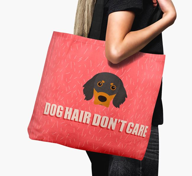 'Dog Hair Don't Care' Canvas Bag with Gordon Setter Icon