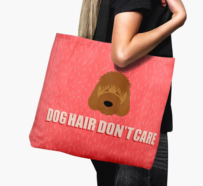 'Dog Hair Don't Care' Canvas Bag with Irish Doodle Icon