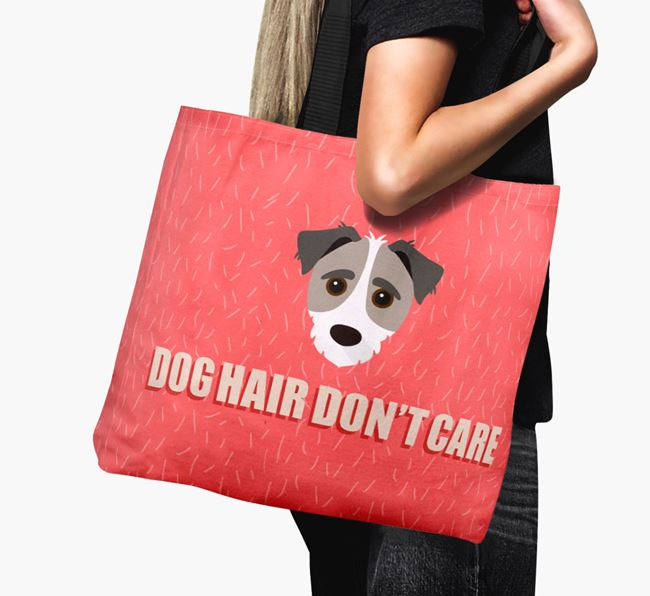 'Dog Hair Don't Care' Canvas Bag with Jack-A-Poo Icon