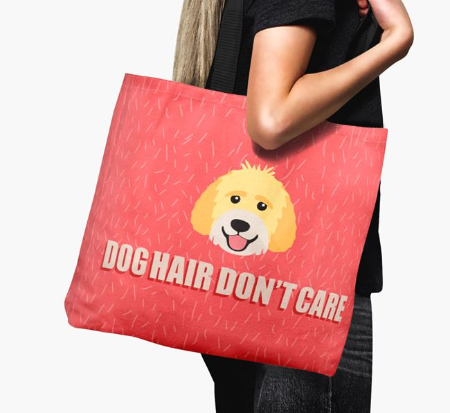 'Dog Hair Don't Care' Canvas Bag with Labradoodle Icon
