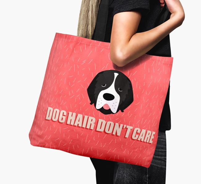 'Dog Hair Don't Care' Canvas Bag with Newfoundland Icon