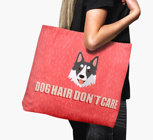 'Dog Hair Don't Care' Canvas Bag with Northern Inuit Icon
