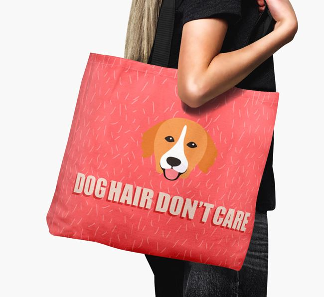 'Dog Hair Don't Care' Canvas Bag with Nova Scotia Duck Tolling Retriever Icon