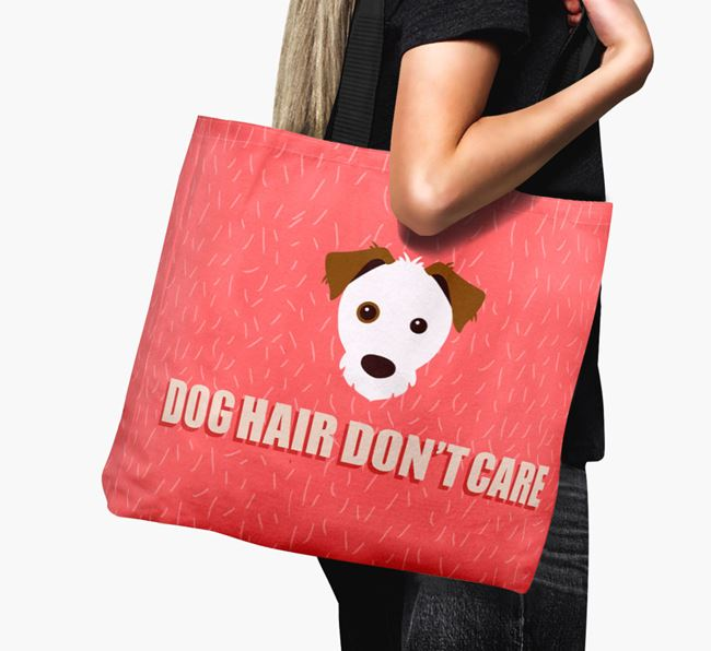 'Dog Hair Don't Care' Canvas Bag with Parson Russell Terrier Icon
