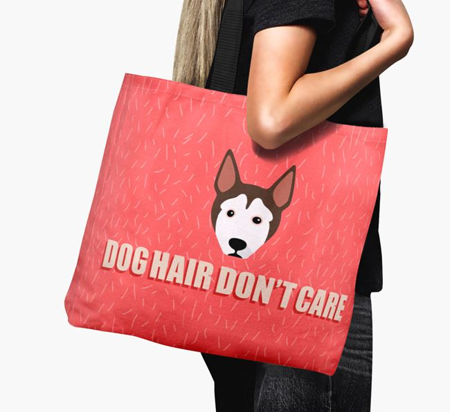'Dog Hair Don't Care' Canvas Bag with Pitsky Icon