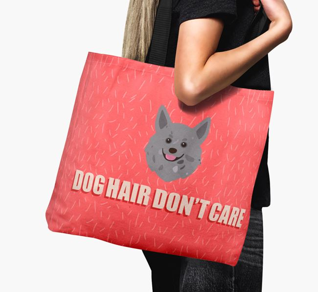 'Dog Hair Don't Care' Canvas Bag with Pomchi Icon