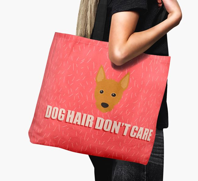 'Dog Hair Don't Care' Canvas Bag with Portuguese Podengo Icon