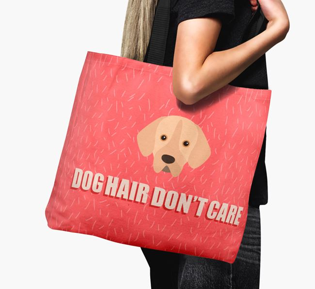 'Dog Hair Don't Care' Canvas Bag with Portuguese Pointer Icon