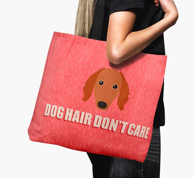 'Dog Hair Don't Care' Canvas Bag with Saluki Icon