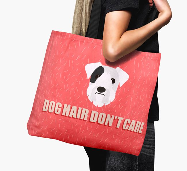 'Dog Hair Don't Care' Canvas Bag with Sealyham Terrier Icon