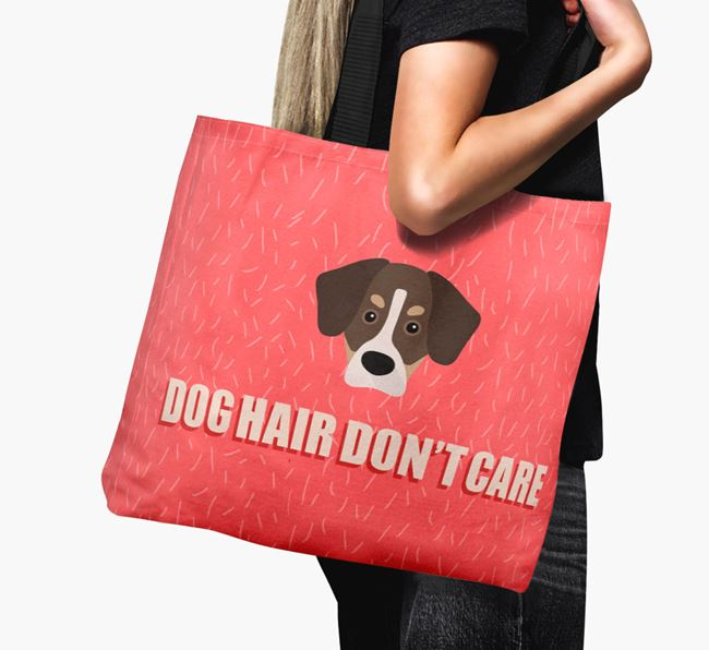 'Dog Hair Don't Care' Canvas Bag with Siberian Cocker Icon