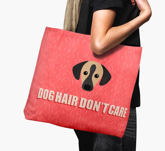 'Dog Hair Don't Care' Canvas Bag with Sloughi Icon