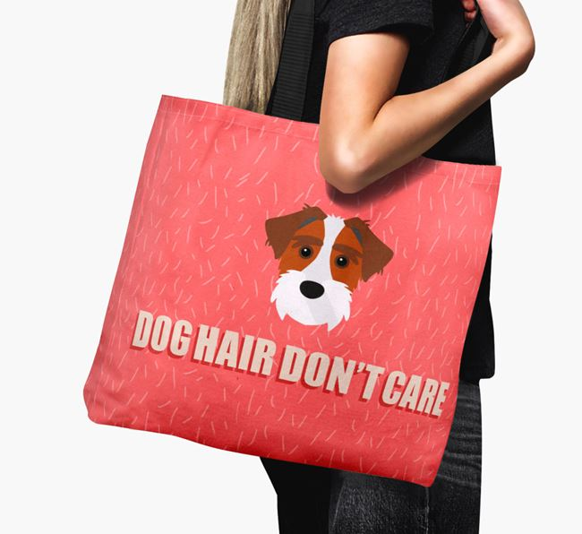 'Dog Hair Don't Care' Canvas Bag with Sporting Lucas Terrier Icon