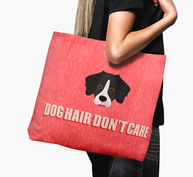 'Dog Hair Don't Care' Canvas Bag with Stabyhoun Icon