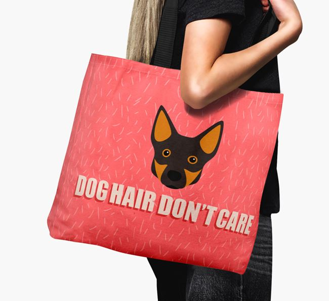 'Dog Hair Don't Care' Canvas Bag with Swedish Vallhund Icon