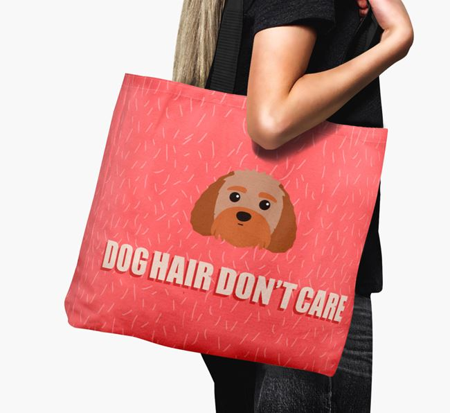'Dog Hair Don't Care' Canvas Bag with Terri-Poo Icon