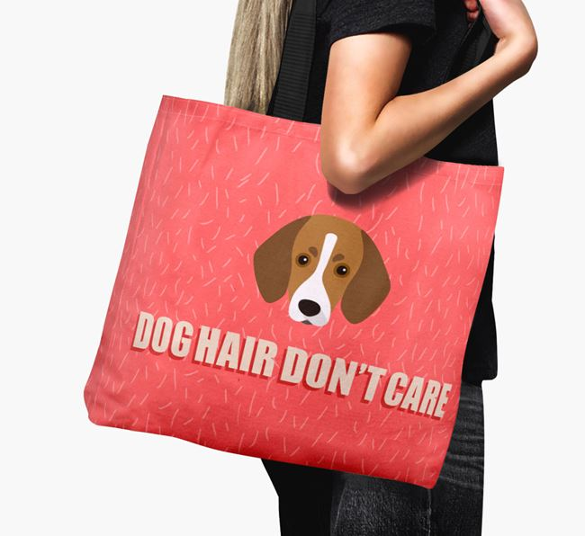 'Dog Hair Don't Care' Canvas Bag with Trailhound Icon
