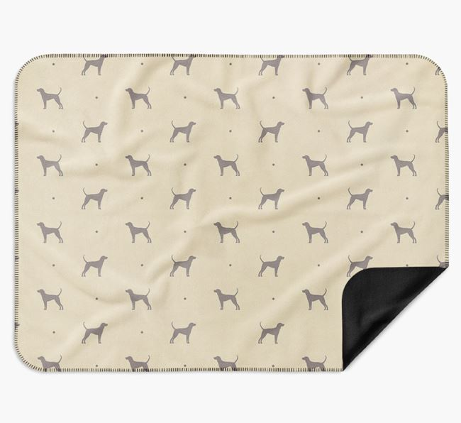 Luxury Black and Tan Coonhound Silhouette Blanket