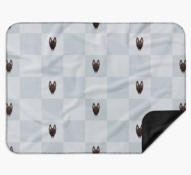 Luxury Belgian Malinois Checkerboard Blanket