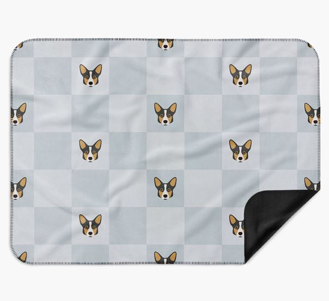 Luxury Corgi Checkerboard Blanket