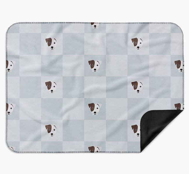 Luxury French Bull Jack Checkerboard Blanket