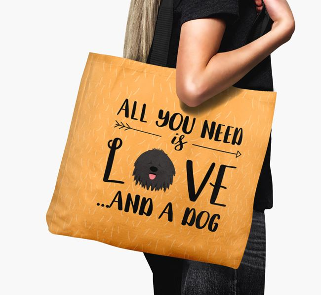 'All You Need Is Love...' Canvas Bag with Hungarian Puli Icon