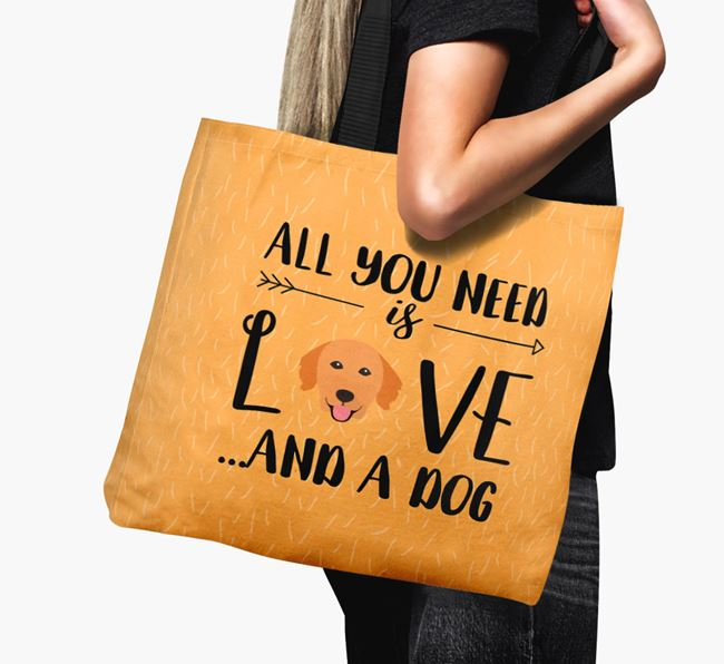 'All You Need Is Love...' Canvas Bag with Nova Scotia Duck Tolling Retriever Icon