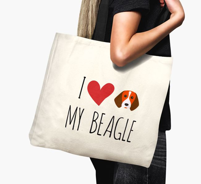 'I love my Beagle' Canvas Bag