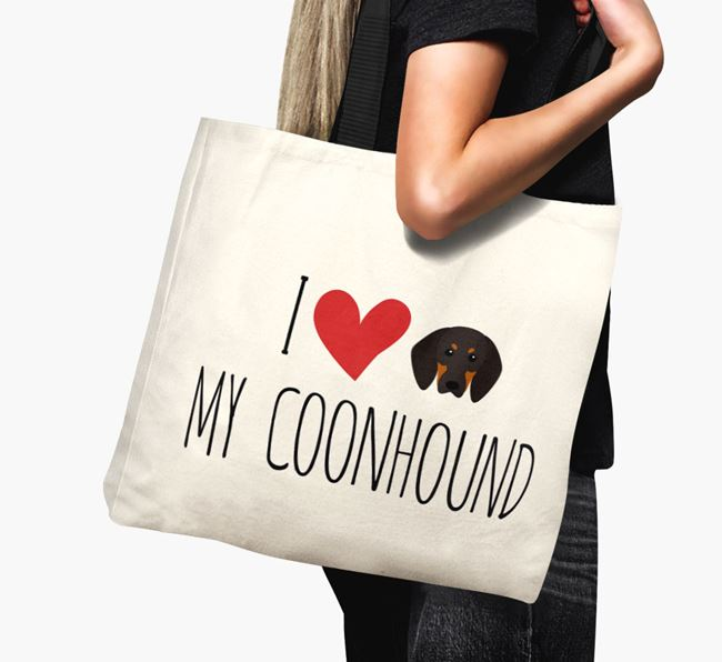 'I love my Coonhound' Canvas Bag