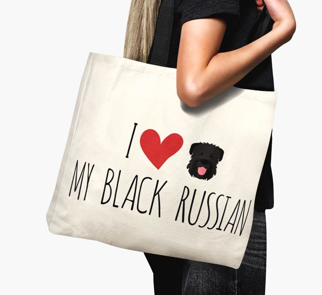 'I love my Black Russian' Canvas Bag