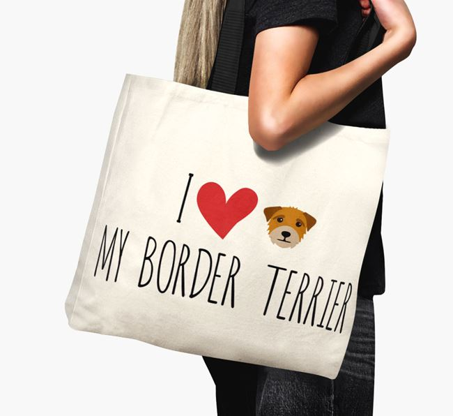 'I love my Border Terrier' Canvas Bag