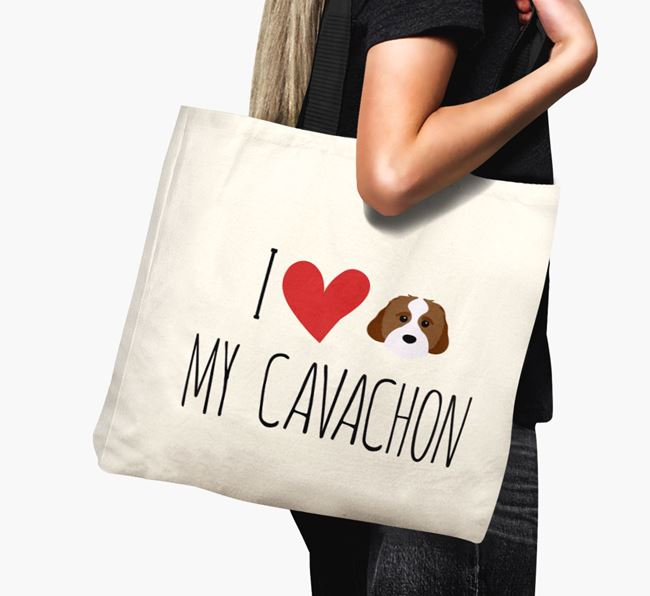 'I love my Cavachon' Canvas Bag