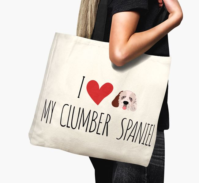 'I love my Clumber Spaniel' Canvas Bag