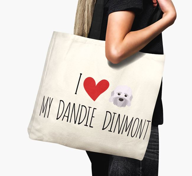'I love my Dandie Dinmont' Canvas Bag