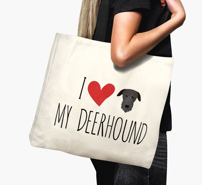 'I love my Deerhound' Canvas Bag