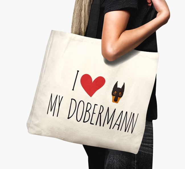 'I love my Dobermann' Canvas Bag