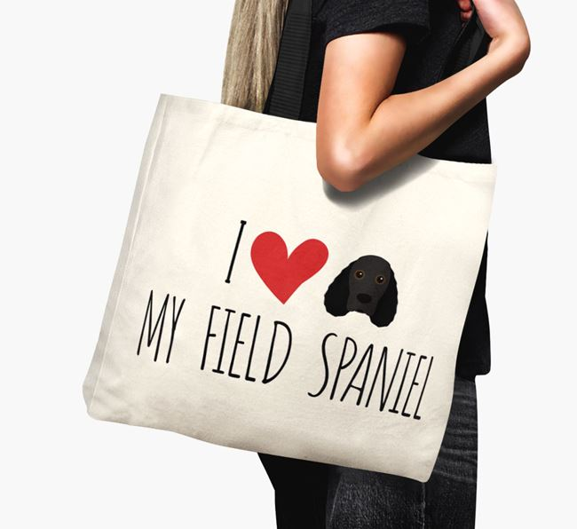 'I love my Field Spaniel' Canvas Bag