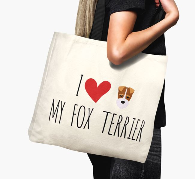 'I love my Fox Terrier' Canvas Bag