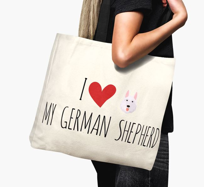'I love my German Shepherd' Canvas Bag