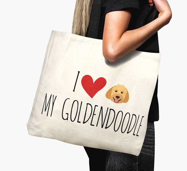 'I love my Goldendoodle' Canvas Bag