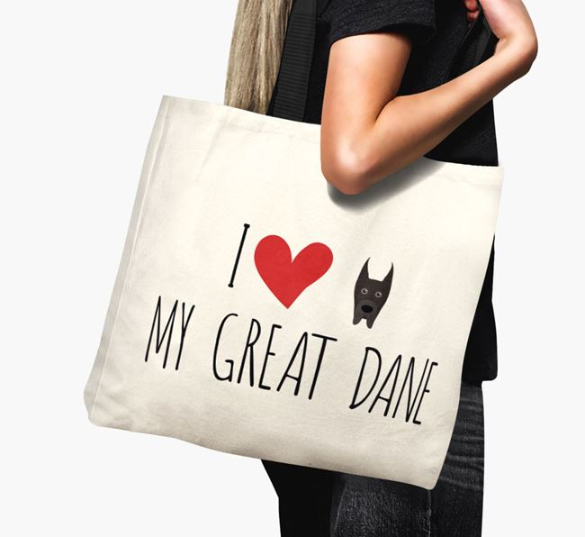 'I love my Great Dane' Canvas Bag