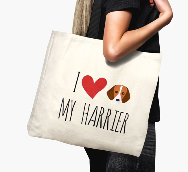 'I love my Harrier' Canvas Bag