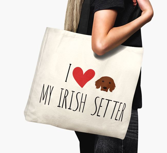 'I love my Irish Setter' Canvas Bag
