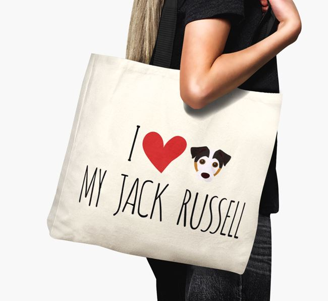 'I love my Jack Russell' Canvas Bag