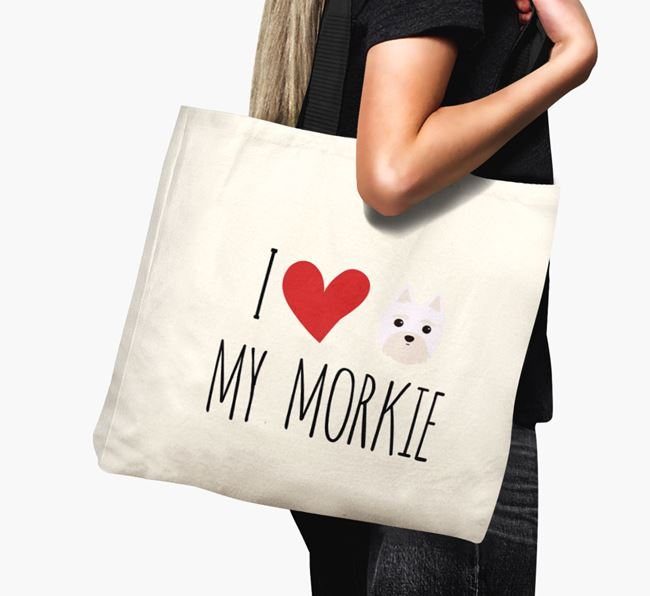 'I love my Morkie' Canvas Bag